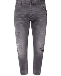 Emporio Armani - Jeans With Worn Effect Grey - Lyst
