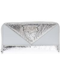KENZO - Wallet With Metal Logo - Lyst