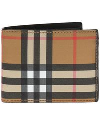 Burberry - Checked Bifold Wallet - Lyst