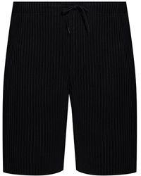 Homme Plissé Issey Miyake Ribbed Shorts - Black