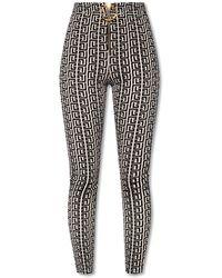 Balmain High-waisted Pants - Black