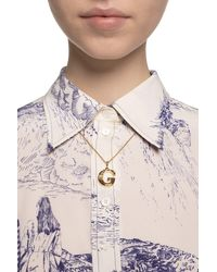 Chloé Necklace With Pendant Gold - Metallic