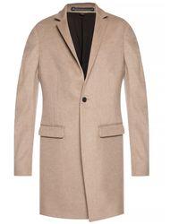 AllSaints 'bodell' High Collar Coat Beige - Natural