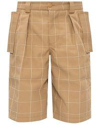 Jacquemus Checked Shorts - Natural
