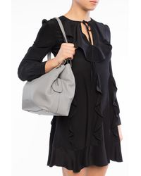 Michael Kors Raven Large Shoulder Tote Pearl Gray