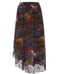 Zadig & Voltaire - Patterned Skirt - Lyst