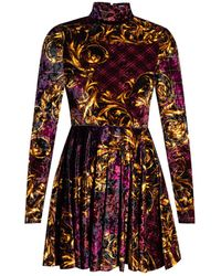 Versace Jeans Couture Dress With Band Collar - Multicolour