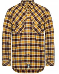 DIESEL Western Shirt In Yarn Dyed Check - Yellow