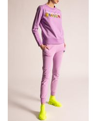 DIESEL Sweatpants With Logo - Purple