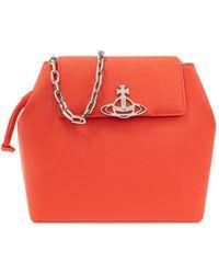 Vivienne Westwood 'debbie Bucket' Shoulder Bag - Red