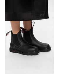 Marni Leather Ankle Boots - Black