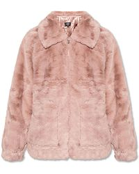 UGG Jacket With Collar - Pink
