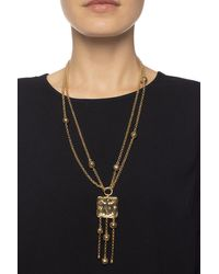 Chloé Logo-embossed Necklace Gold - Metallic