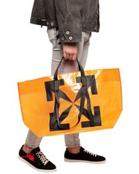 Off-White c/o Virgil Abloh Transparent Tote Bag - Orange