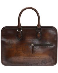Berluti Un Jour Mini Leather Briefcase - Brown