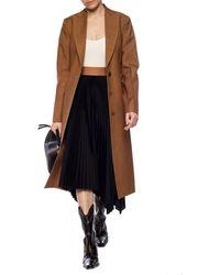 Loewe Wool Coat Brown