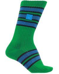Acne Studios Embroidered Socks - Green