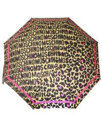 Moschino Logo Umbrella Beige - Natural
