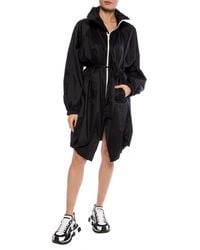 Givenchy Hooded Raincoat Black