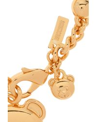 Moschino Teddy Bear Bracelet - Metallic