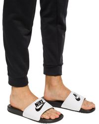Nike 'benassi' Slides With Logo White