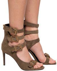Balmain Heeled Sandals - Brown