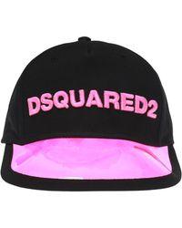 DSquared² - Baseball Cap With Transparent Visor - Lyst