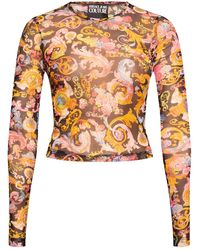 Versace Jeans Couture Long-sleeved Top Multicolor