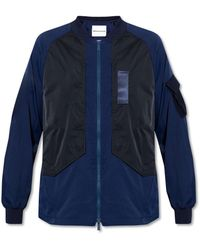 White Mountaineering Jacket With Pockets - Blue