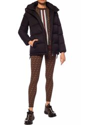 Burberry Detachable Hood Monogram Econyl® Puffer Jacket - Black