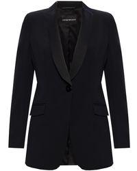 Emporio Armani Blazer With Pockets Multicolour - Black
