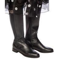 Dolce & Gabbana Logo Knee-high Boots Black
