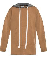 Loewe Hooded Jumper - Brown