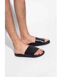 Burberry Rubber Slides - Black