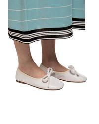 Lanvin 'bow' Ballet Flats With Tie Fastening Cream - Multicolor