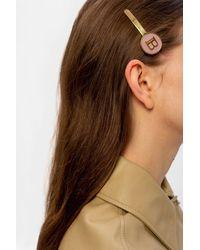 Balmain Hair Clip With Logo - Pink