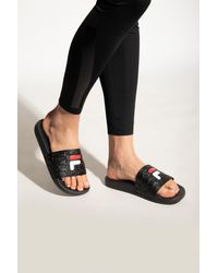 Fila 'baywalk' Slides With Logo Black