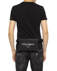Dolce & Gabbana Logo Printed Belt Bag - Black