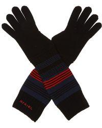 Sonia Rykiel Logo-embroidered Gloves - Black