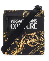 Versace Jeans Couture Shoulder Bag With Logo - Black