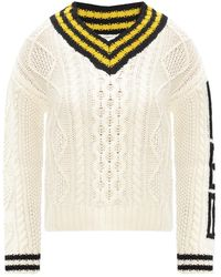 RED Valentino Rib-knit Sweater - Natural