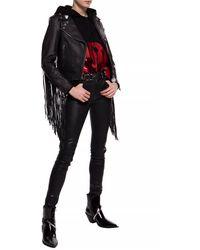 Emporio Armani Sequinned Hoodie Black