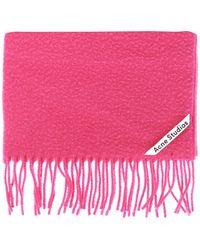 Acne Studios Fringed Scarf - Pink