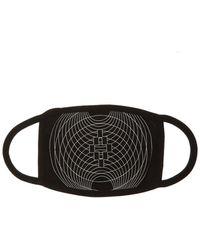 Marcelo Burlon Geometric Print Face Mask - Black