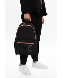 EA7 Logo Backpack Black