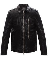 AllSaints 'swithin' Leather Jacket - Black