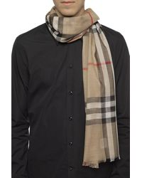 Burberry Patterned Scarf Brown
