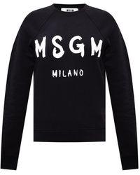 MSGM Branded Sweatshirt - Black