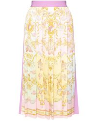 Versace Jeans Couture Pleated Skirt Multicolor