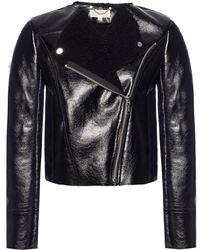Michael Kors - Black Eco-leather Jacket - Lyst